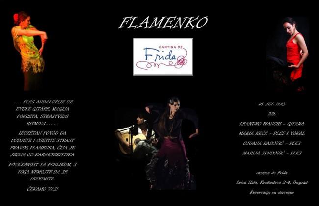 Flamenko nastup u Fridi